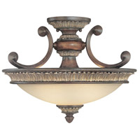 Bonita 2 Light 17 inch Yuma Semi-Flush Mount Ceiling Light