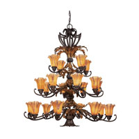 Dolan Designs Belle Fleur 20 Light Chandelier in Acorn 2773-76 photo thumbnail