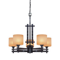 Dolan Designs Prairie 5 Light Chandelier in Mission 2867-74 photo thumbnail