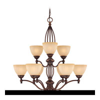 Jasmine 9 Light 32 inch English Bronze Chandelier Ceiling Light