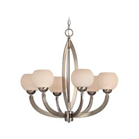 Odyssey 6 Light 27 inch Satin Nickel Chandelier Ceiling Light