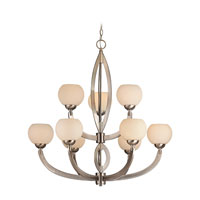 Dolan Designs 2962-09 Odyssey 9 Light 34 inch Satin Nickel Chandelier Ceiling Light