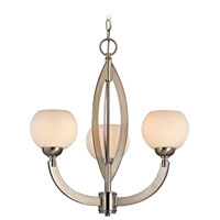 Odyssey 3 Light 23 inch Satin Nickel Chandelier Ceiling Light