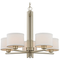 Dolan Designs 2970-09 Tecido 5 Light 27 inch Satin Nickel Chandelier Ceiling Light