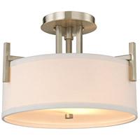 Dolan Designs 2975-09 Tecido 2 Light 15 inch Satin Nickel Semi-Flush Mount Ceiling Light