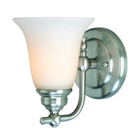 Dolan Designs Hamilton 1 Light Wall Sconce in Satin Nickel 3241-09
