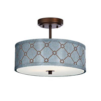 Dolan Designs Rio 3 Light Semi-Flush Mount in Neuvelle Bronze 5105-220