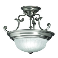 Richland 2 Light 17 inch Satin Nickel Semi-Flush Mount Ceiling Light