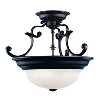 Richland 2 Light 17 inch Royal Bronze Semi-Flush Mount Ceiling Light