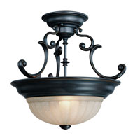 Dolan Designs Richland 2 Light Semi-Flush Mount in Bolivian 524-78