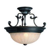 Dolan Designs Richland 3 Light Semi-Flush Mount in Bolivian 525-78 photo thumbnail