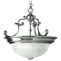 Richland 3 Light 17 inch Satin Nickel Pendant Ceiling Light