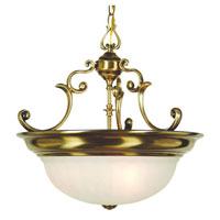 Richland 3 Light 17 inch Old Brass Pendant Ceiling Light