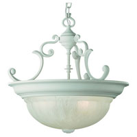 Dolan Designs Richland 3 Light Pendant in Classic White 527-32