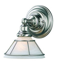 Dolan Designs Craftsman 1 Light Wall Sconce in Satin Nickel 629-09