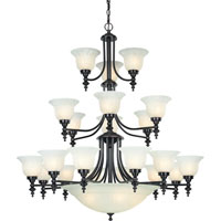 Richland 24 Light 44 inch Royal Bronze Chandelier Ceiling Light in Alabaster