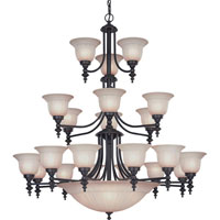 Richland 24 Light 44 inch Bolivian Chandelier Ceiling Light in Carmelized