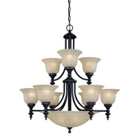 Richland 12 Light 30 inch Bolivian Chandelier Ceiling Light in Carmelized