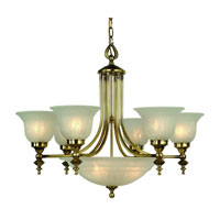 Dolan Designs Richland 9 Light Chandelier in Old Brass 665-18