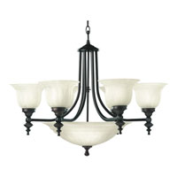 Richland 9 Light 27 inch Royal Bronze Chandelier Ceiling Light in Alabaster