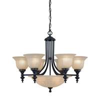 Richland 9 Light 27 inch Bolivian Chandelier Ceiling Light in Carmelized