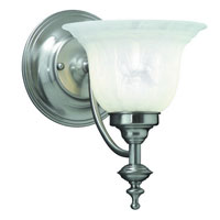 Richland 1 Light 7 inch Satin Nickel Wall Sconce Wall Light in Alabaster