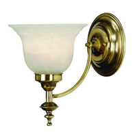Richland 1 Light 7 inch Old Brass Wall Sconce Wall Light in Alabaster