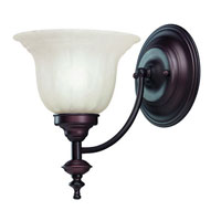 Richland 1 Light 7 inch Royal Bronze Wall Sconce Wall Light in Alabaster