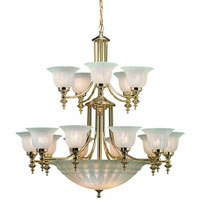 Dolan Designs Richland 18 Light Chandelier in Polished Brass 668-14 photo thumbnail