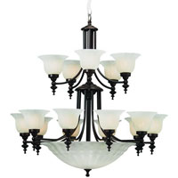 Richland 18 Light 36 inch Royal Bronze Chandelier Ceiling Light in Alabaster