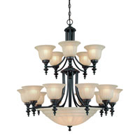 Richland 18 Light 36 inch Bolivian Chandelier Ceiling Light in Carmelized