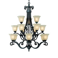 Winston 15 Light 36 inch Olde World Iron Chandelier Ceiling Light