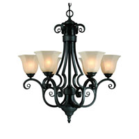 Winston 6 Light 26 inch Olde World Iron Chandelier Ceiling Light