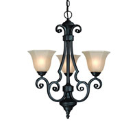 Winston 3 Light 21 inch Olde World Iron Mini Chandelier Ceiling Light