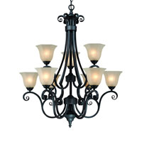 Dolan Designs Winston 9 Light Chandelier in Olde World Iron 777-34