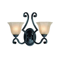 Winston 2 Light 17 inch Olde World Iron Wall Sconce Wall Light