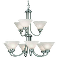 Dolan Designs Vinton 9 Light Chandelier in Satin Nickel 812-09