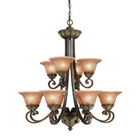 Windsor 12 Light 34 inch Sante Fe Chandelier Ceiling Light