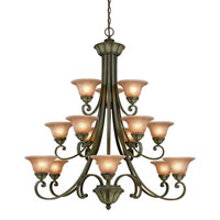 Windsor 15 Light 46 inch Sante Fe Chandelier Ceiling Light