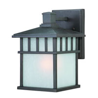 Barton 1 Light 13 inch Olde World Iron Exterior Wall Lantern in White Linen