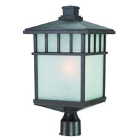 Barton 1 Light 21 inch Olde World Iron Exterior Post Lantern in White Linen