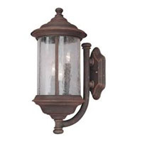 Walnut Grove 3 Light 19 inch Rustique Exterior Wall Lantern