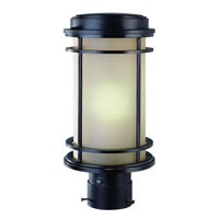 La Mirage 1 Light 14 inch Winchester Exterior Post Lantern
