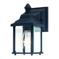 Charleston 1 Light 9 inch Black Exterior Wall Lantern in Beveled