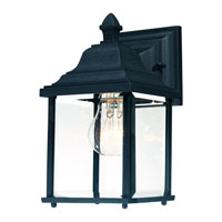 Charleston 1 Light 11 inch Black Exterior Wall Lantern in Beveled