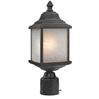 Charleston 1 Light 16 inch Winchester Post Head in White Linen