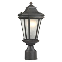 Lakeview 1 Light 16 inch Olde World Iron Post Lantern