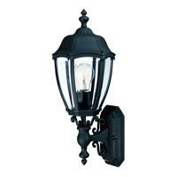 Dolan Designs Roseville 1 Light Exterior Wall Lantern in Black 950-50
