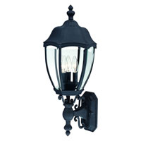 Roseville 3 Light 24 inch Black Outdoor Wall