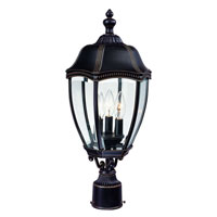Roseville 3 Light 22 inch Antique Bronze Exterior Post Lantern
